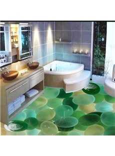 Attractive Pebbles in the Limpid Water Pattern Home Decorative 3D Floor Murals