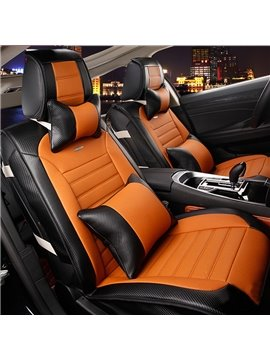 High-Grade Microfiber Leather Mash Up Durable Universal Five Car Seat Cover