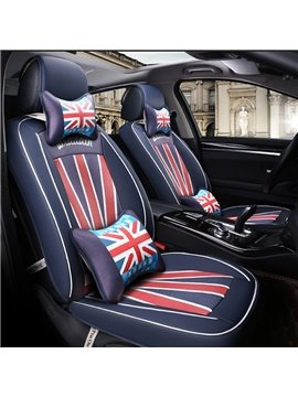 England Flag Pattern Design Popular Element Durable PU Leather Universal Car Seat Cover