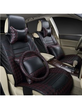 Super High-Grade Luxury Cost-Effective Mixing Color PU Leather Universal Five Car Seat Cover