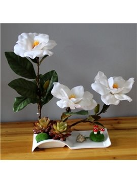 Gorgeous Artificial Mangnolia Design Home Decorative Flower Sets