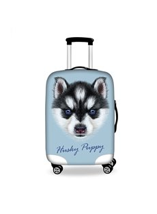 Funny Black Puppy Pattern 3D Painted Luggage Protect Cover