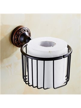 Classical Style Black Bronze Toilet Paper Holder