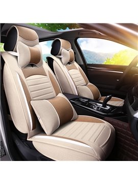 Good Permeability And Long Rubbing High-Grade Contrast Color Universal Five Car Seat Cover