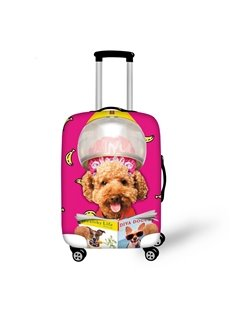 Funny Dog Reading Book Pattern 3D Painted Luggage Protect Cover