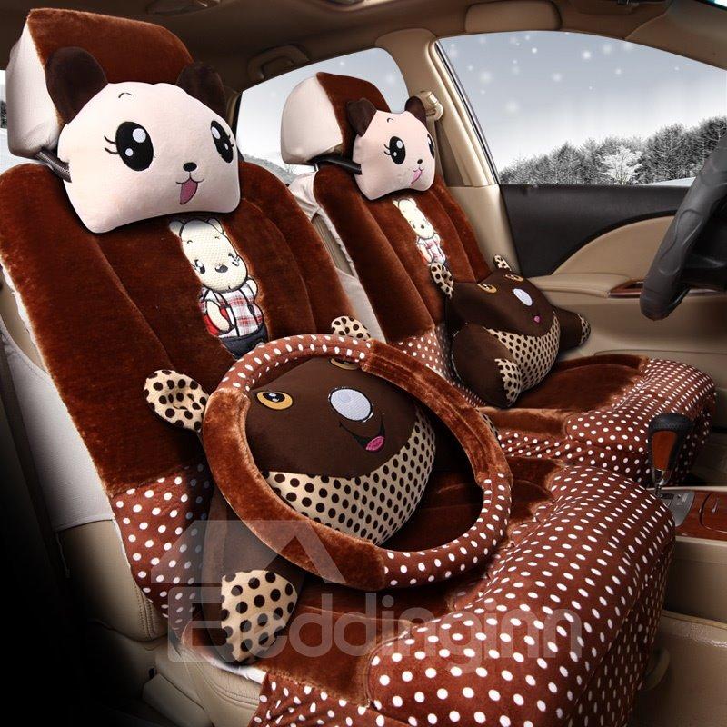 Beddinginn Cute Cartoon Element Pillow Comfortable Material Five Universal Car Seat Cover And