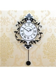 Modern Decorative Roman Style Mute Battery Wall Clock