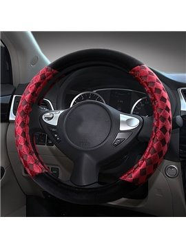 Soft Plush With Durable Polyester Material Mesh Medium Car Steering Wheel Cover