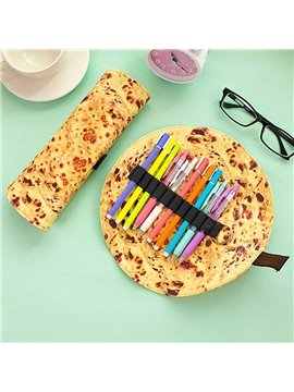 Creative Pancake Design PU Pencil Case