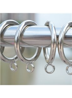 30-Pack Sliver Color 1.7-Inch Metal Curtain Eyelet Rings