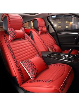 High-Grade Microfiber Leather Material Bright Color Universal Five Car Seat Cover