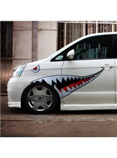 New Fashion Shark Style Design Popular 1-Pair Creative Car Sticker