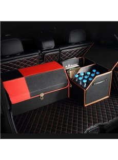 New Fashion Contrast Color Design High Capacity Medium Car Trunk Organizer