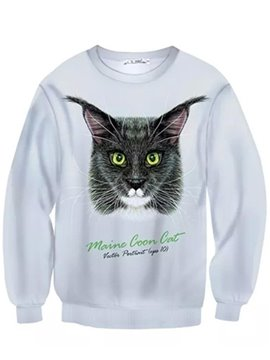 Long Sleeve Manx Pattern Inner Suede 3D Painted Hoodie