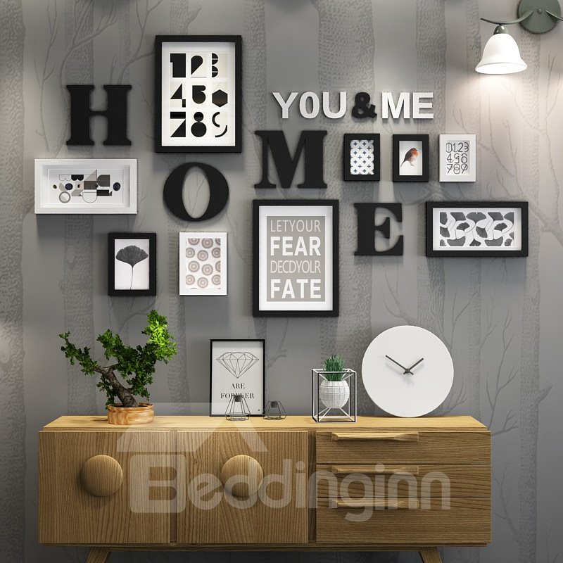 Special Design You And Me Home Decorative 9 Pieces Wall Photo Frames