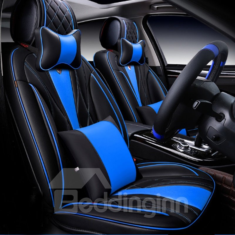 sports series streamlined design with diamond patterns universal car seat covers. Black Bedroom Furniture Sets. Home Design Ideas