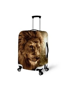 Lion Face Pattern 3D Painted Luggage Cover
