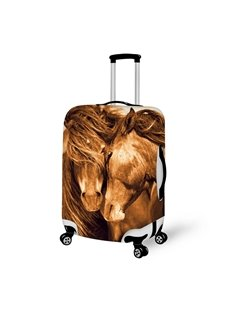 Horse Couple Pattern 3D Painted Luggage Cover