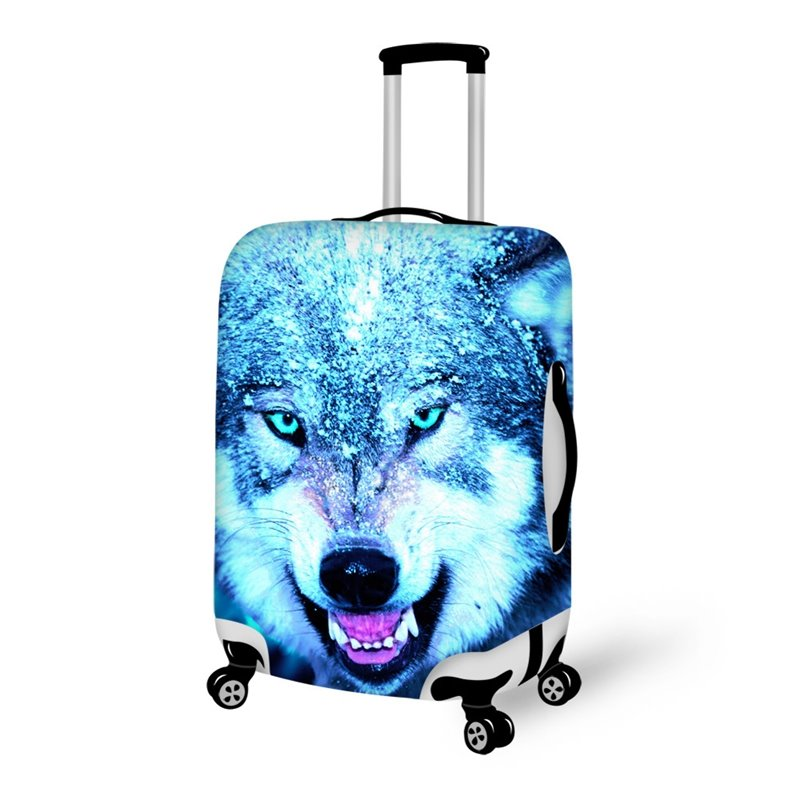 Super Cool Snow Wolf Pattern 3d Painted Luggage Cover