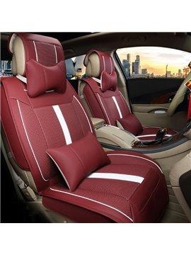 Multi-Use Massage And Refrigeration Features Durable PU Leather Universal Five Car Seat Cover