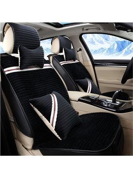 New Simple Design Soft Warm Velvet Material Universal Five Car Seat Cover