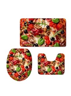 Tasty Pizza 3D Printed 3-Pieces Toilet Seat Cover