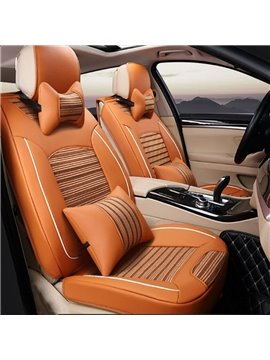 Textured Beautiful Color Design Cost-Effective Universal Five Car Seat Cover