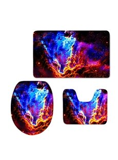 Gorgeous Galaxy Printing 3-Pieces Toilet Seat Cover