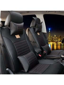 Super Durable Thick Stretch-Resistant PU Leatherette Material Five Universal Car Seat Cover