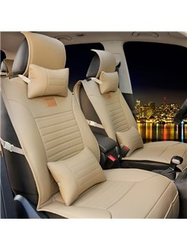 New Solid Color Tough Easy Clean Durable PU Material Universal Five Car Seat Cover