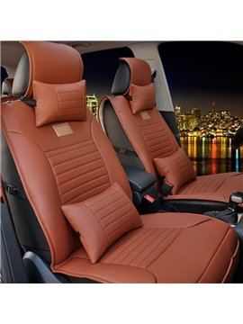 High-Grade Stretch-Resistant Durable PU Material Cost-Effective Universal Five Car Seat Cover