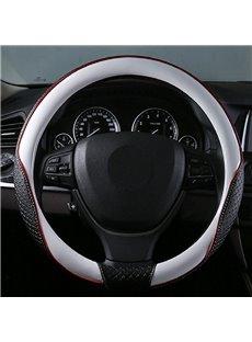 High-Grade Textured Durable PU Material Medium Car Steering Wheel Cover