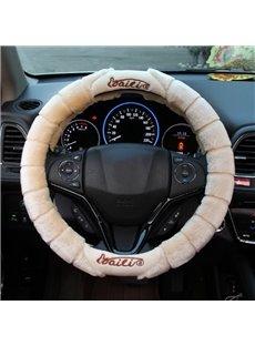 Unique Design High-Grade Soft Plush Material Medium Car Steering Wheel Cover