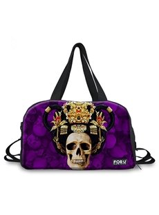 Abstract Skull Queen Pattern 3D Painted Travel Bag