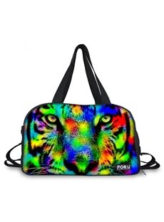 Special Tiger Face Pattern 3D Painted Travel Bag