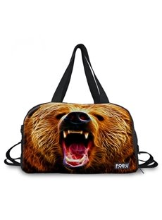 Fashion Huge Bear Face Pattern 3D Painted Travel Bag