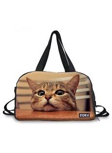 Pretty little Cat Pattern 3D Painted Travel Bag