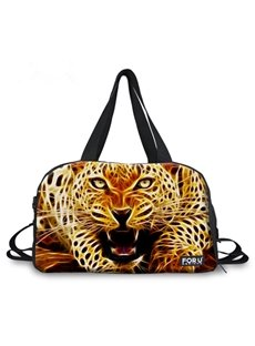 Fashion Leopard Pattern 3D Painted Travel Bag