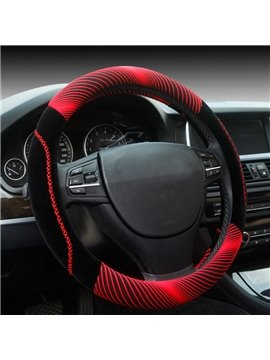 Fashion Cool Red 3D Effect Design Medium Car Steering Wheel Cover