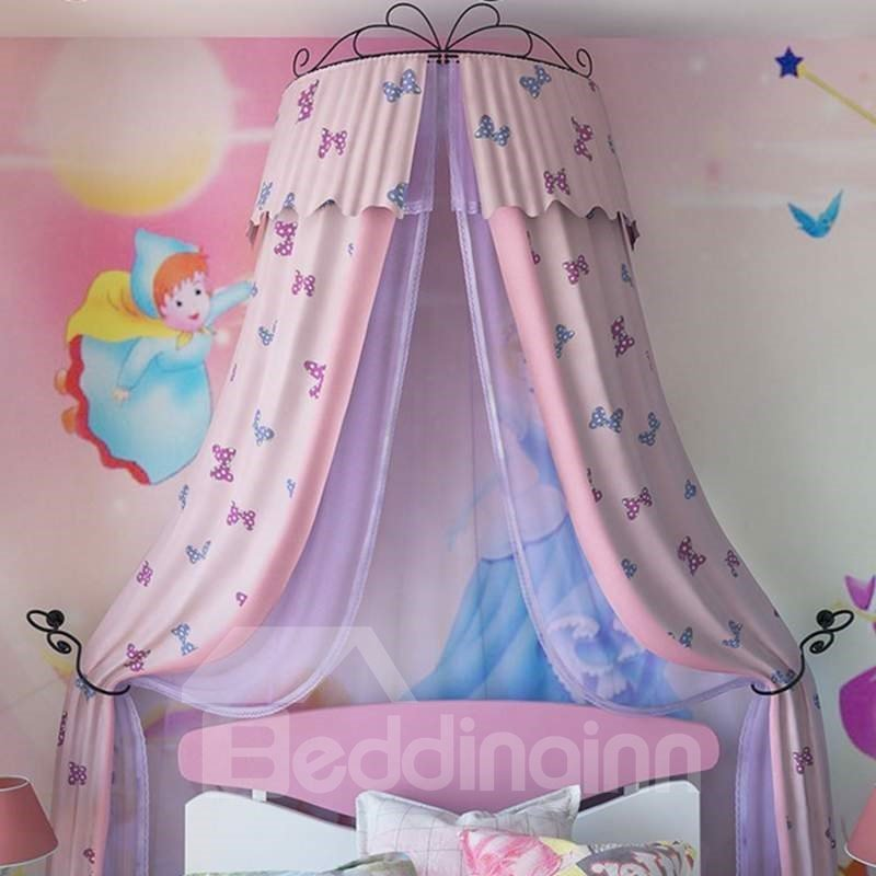 Lovely Double Layers Butterfly Pattern Preferred Fabric Kids Bed Canopy ... & Lovely Double Layers Butterfly Pattern Preferred Fabric Kids Bed ...