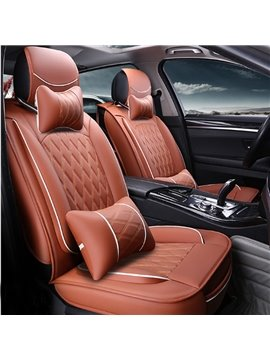 Microfiber Leather Material Easy Clean Durable Five Universal Car Seat Cover