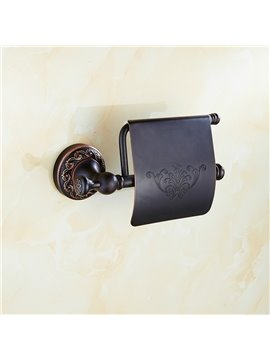Contemporary Wall Mounted Black Copper Toilet Roll Holders