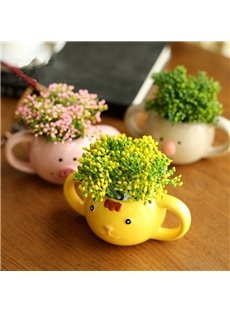 Cute Country Style Animal Shape Desktop Decoration Flowers Sets