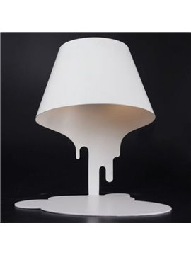 White Creative Iron Melting Design Home Decorative Table Lamp