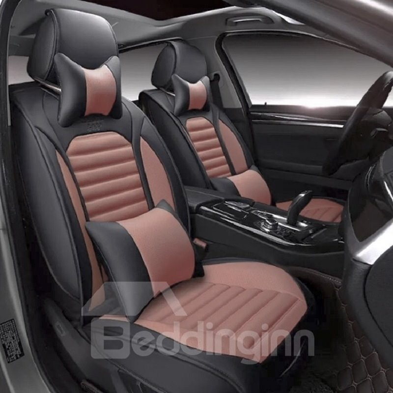 black and orange bright colors sports design universal car seat covers. Black Bedroom Furniture Sets. Home Design Ideas
