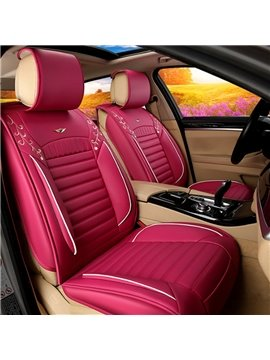 Colorful Young Wonderful Style Cost-Effective PU Universal Five Car Seat Cover