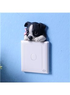 Unique Resin Cute Dog Shape Design 3D Wall Switch Stickers