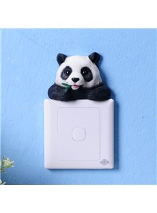 Amusing Modern Design Cute Panda Shape 3D Wall Switch Stickers