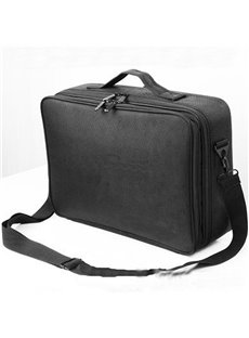 Black Nylon Professional Travel Makeup Organizer Bag