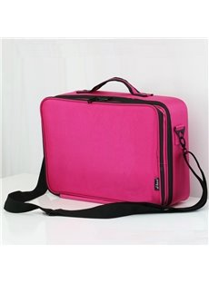 Rose Nylon Professional Travel Makeup Organizer Bag